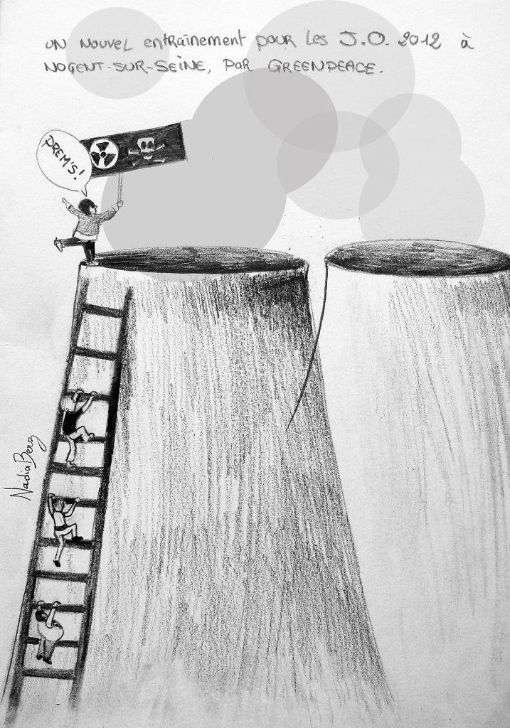 Greenpeace à la centrale nucléaire